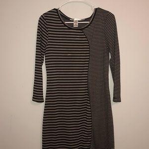 max studio long sleeve striped dress